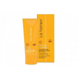 کرم ضد آفتاب و ضد لک SPF50 لافارر مناسب پوست نرمال و خشک