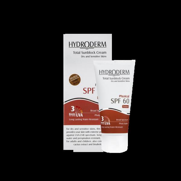 کرم ضد آفتاب رنگی SPF60 هیدرودرم