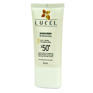 کرم ضد آفتاب رنگی SPF50 لوسل مناسب پوست خشک و معمولی