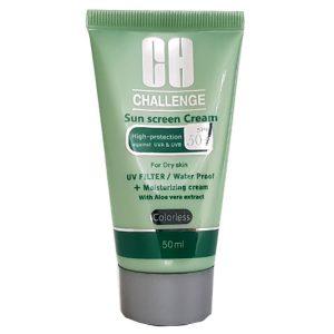 ضد آفتاب بی رنگ پوست خشک SPF50 چلنج