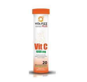 قرص جوشان ویتامین ث 1000 میلی گرم ویتافیز پلاس بسته 20 عددی
