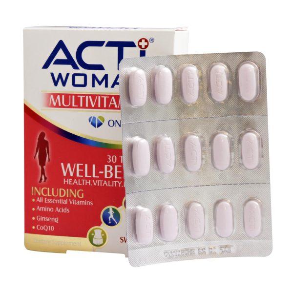 قرص مولتی ویتامین اکتی وومن لیبرتی سوئیس
