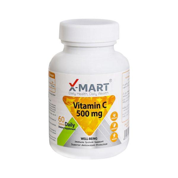قرص ویتامین ث 500 میلی گرم ایکس مارت بسته 60 عددی
