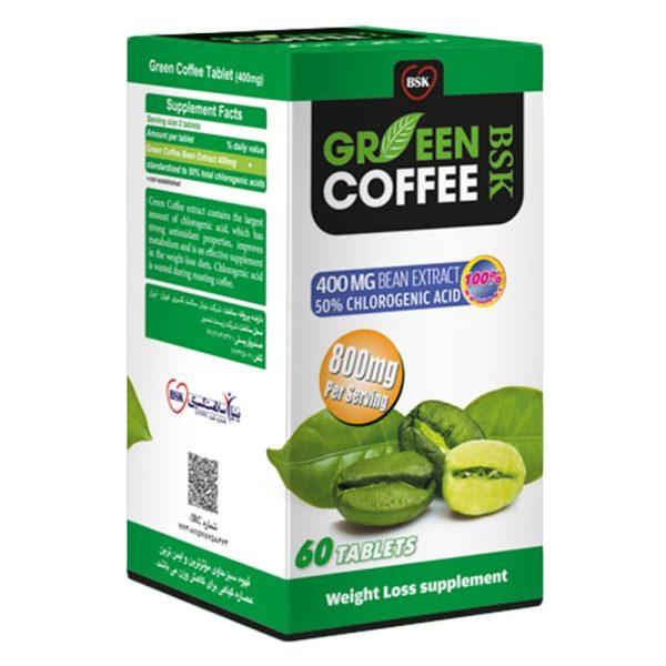 قرص گرین کافی بی اس کی بسته 60 عددی
