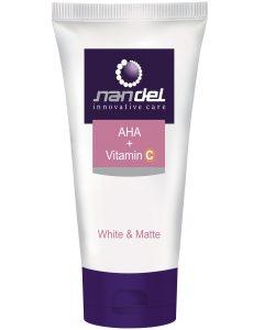 کرم روشن کننده و مات کننده AHA + ویتامین C ناندل