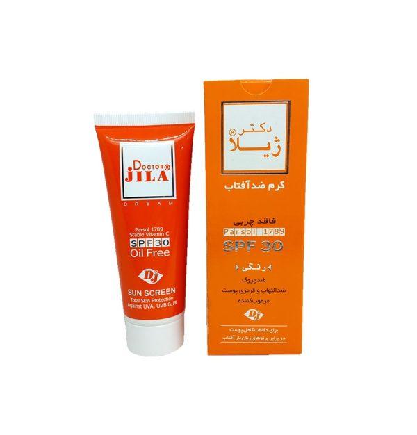 کرم ضد آفتاب رنگی SPF30 دکتر ژیلا