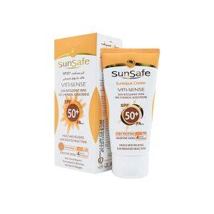 کرم ضد آفتاب رنگی SPF50 سان سیف مدل Viti-Sense