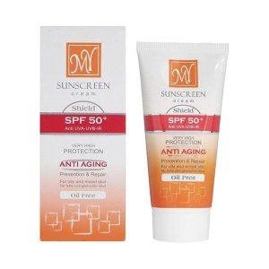کرم ضد آفتاب بی رنگ شیلد SPF50 مای