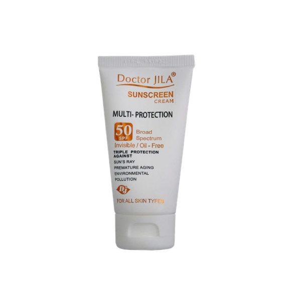 کرم ضد آفتاب مولتی پروتکشن SPF50 دکتر ژیلا