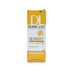 کرم ضد آفتاب رنگی SPF50 درمالیفت مناسب پوست نرمال تا خشک