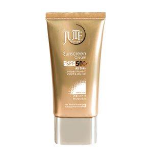 کرم ضد آفتاب Spf50 بی رنگ مناسب انواع پوست ژوت