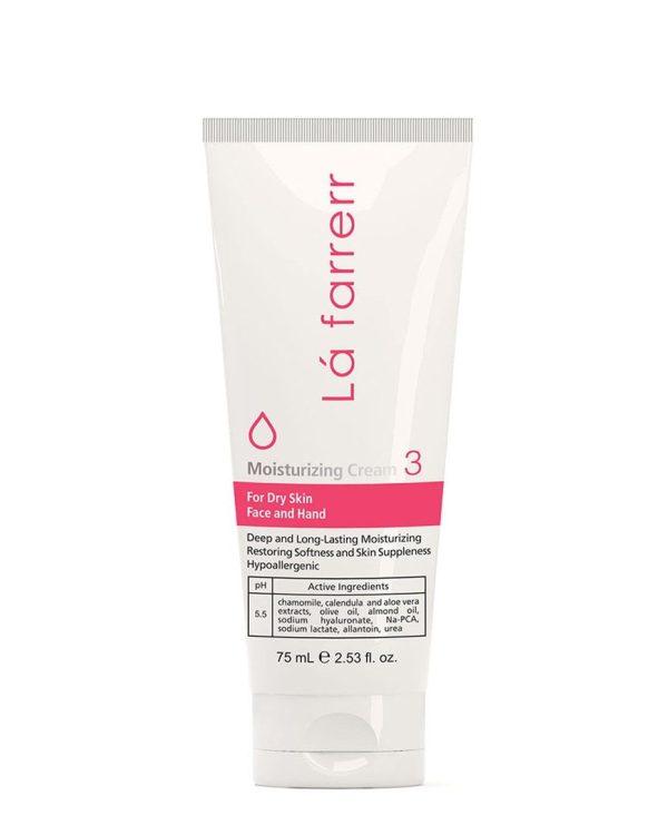 کرم مرطوب کننده دست و صورت 3 لافارر مناسب پوست خشک