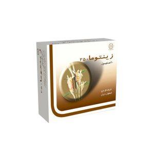 کپسول گیاهی زینتوما ۲۵۰ گل دارو