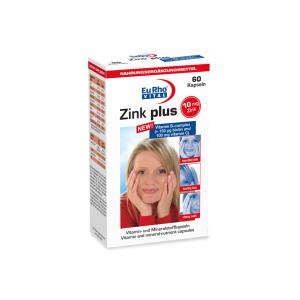 کپسول زینک پلاس + ویتامین ب کمپلکس یوروویتال