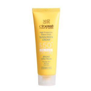 کرم ضد آفتاب SPF50  سینره مناسب پوست چرب