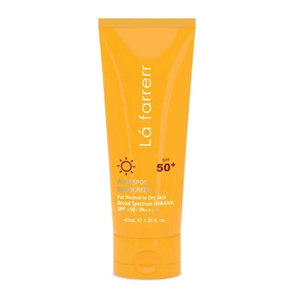 کرم ضد آفتاب و ضد لک لافارر مناسب پوست نرمال و خشک SPF50