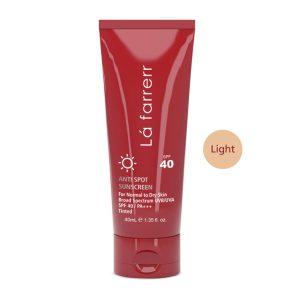 کرم ضد آفتاب و ضد لک رنگی SPF40 لافارر پوست خشک و معمولی