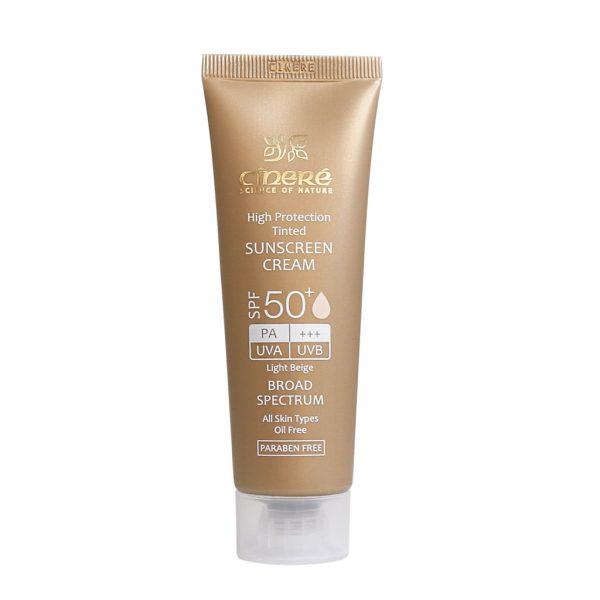 کرم ضد آفتاب رنگی سینره SPF50