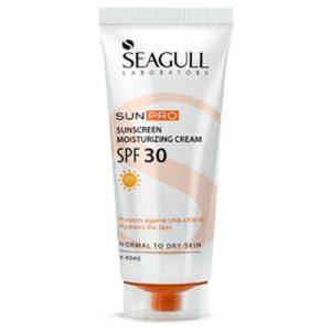 کرم ضد آفتاب و مرطوب کننده SPF30 سی گل مناسب پوست خشک