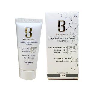 ضد آفتاب کرم پودری بیزانس برای پوست خشک SPF50