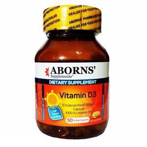 سافت ژل ویتامین د3 ابورنز