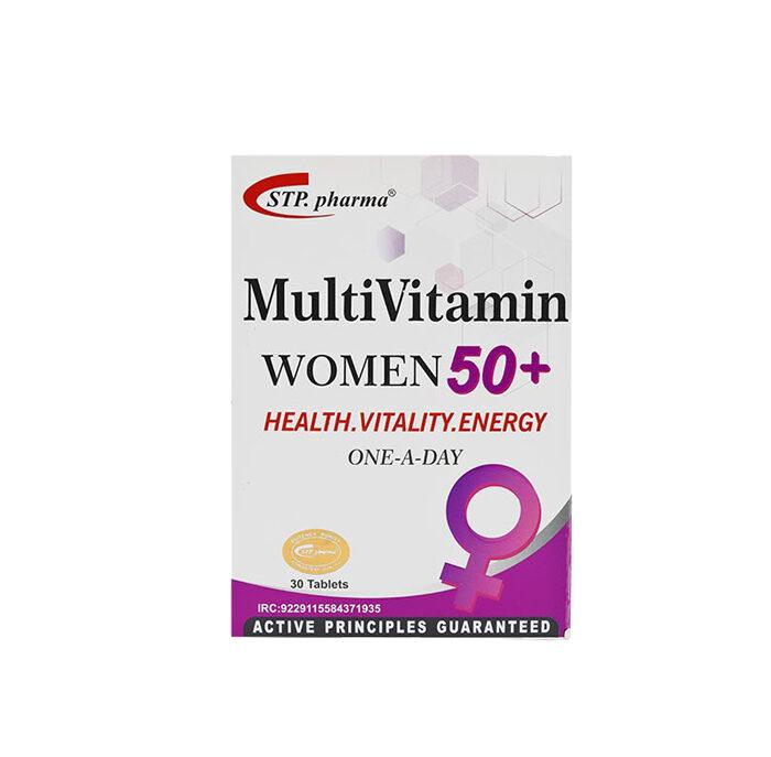 قرص مولتی ویتامین بانوان بالای 50 سال اس تی پی فارما