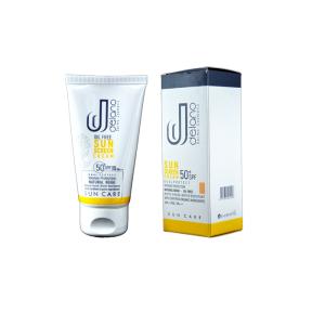 کرم ضد آفتاب رنگی فاقد چربی SPF50 دلانو
