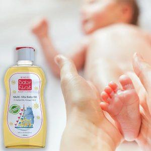 روغن بچه ویتامینه سی گل مدل Baby First