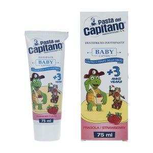 خمیر دندان پاستا دل کاپیتانو مدل Strawberry مناسب کودکان بالای 3 سال