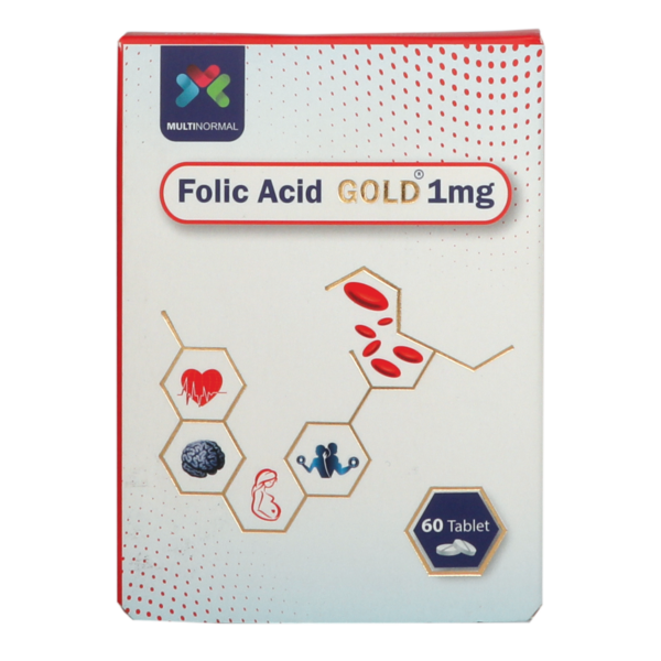 قرص فولیک اسید گلد 1 میلی گرم مولتی نرمال