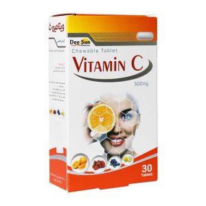 قرص جویدنی ویتامین C دی سان فارما 500 میلی گرم