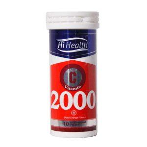 قرص جوشان ویتامین C های هلث 2000 میلی گرم