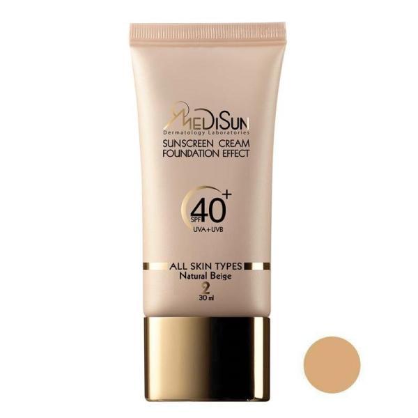 کرم ضد آفتاب رنگی spf40 مدیسان مناسب انواع پوست