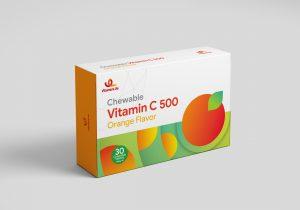 قرص جویدنی ویتامین C 500 میلی گرم ویتامین لایف