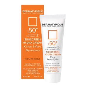 ضد آفتاب بی رنگ هیدرا  +SPF50 درماتیپیک