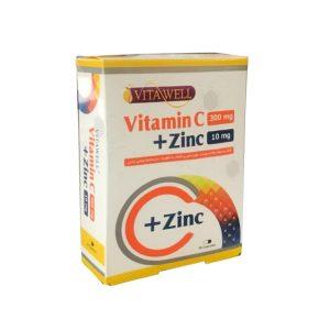 کپسول ویتامین ث + زینک ویتاول