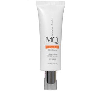 کرم ضد آفتاب بی رنگ SPF50 ام کیو مخصوص پوست معمولی