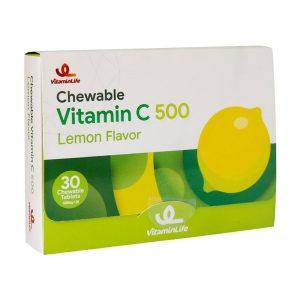 قرص ویتامین ث جویدنی 500 میلی گرم ویتامین لایف